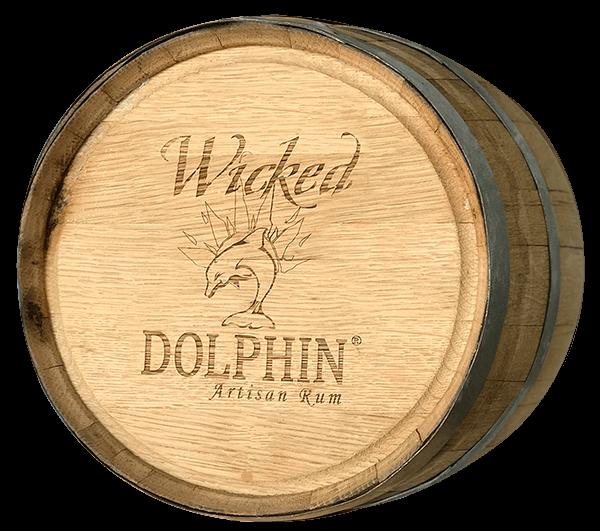 wicked dolphin rum barrel